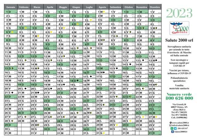 Calendario-planner annuale 2012